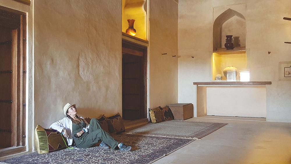 La castelul Jabrin am fost singurii vizitatori, aşa că ne‑am bucurat  în linişte de răcoare...