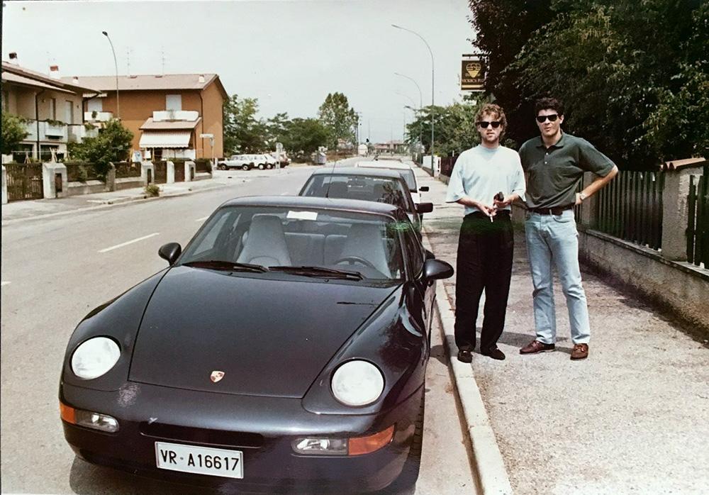 Anul 1993, Brescia. Florin Răducioiu, proaspăt proprietar de Porsche 968.
