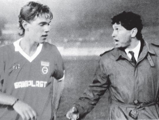 Florin Răducioiu și Mircea Lucescu la Dinamo