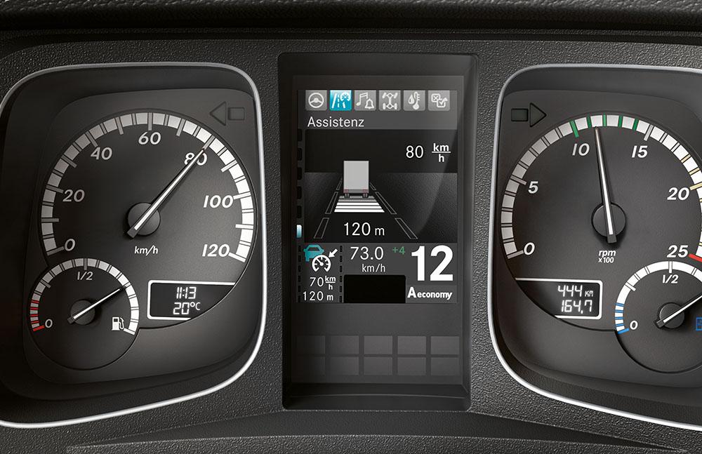 Mercedes-Benz Actros, Abstandsregeltempomat ; Mercedes-Benz Actros, Adaptive Cruise Control ACC, distance control;