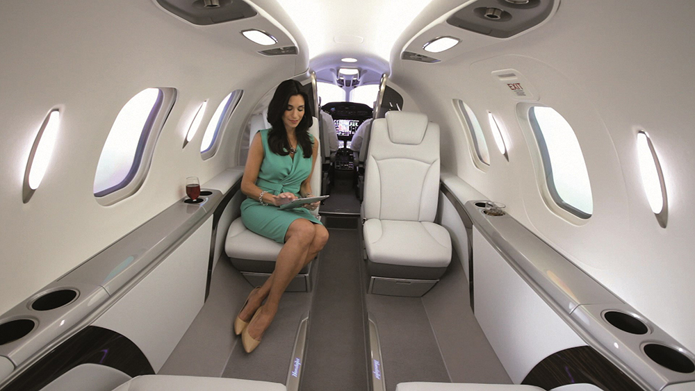 HondaJet Cabin with CMS